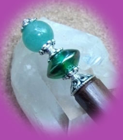 Aventurine and green lustre bead
