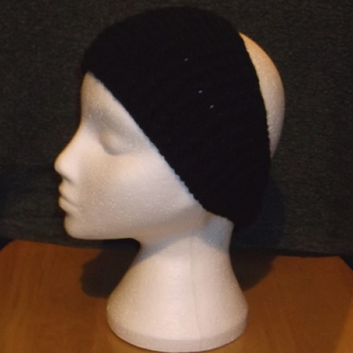 Black Bobbles headband handmade and sold by Longhaired Jewels