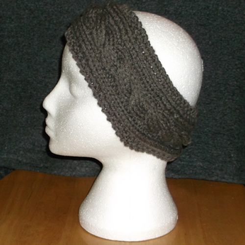 Gray Cable headband handmade and sold by Longhaired Jewels