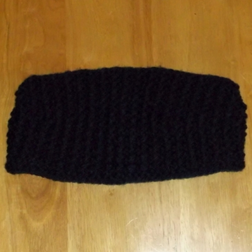 Navy bobbles headband handmade and sold by Longhaired Jewels