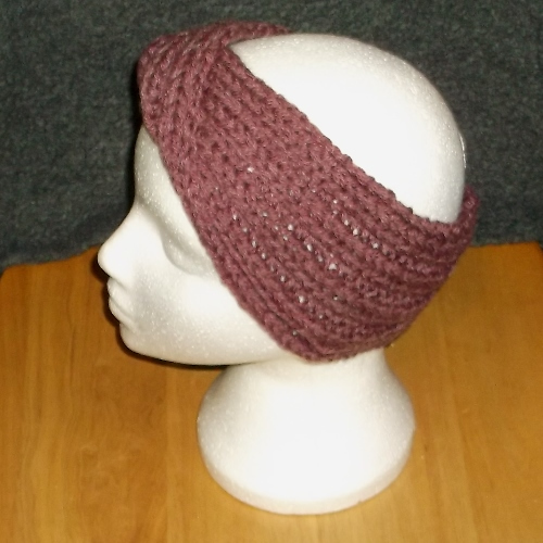 Cranberry Twist knitted headwear, handmade by Longhaired Jewels