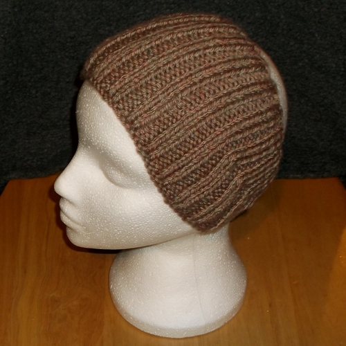 Grouse Rib hand knitted headwear, handmade by Longhaired Jewels