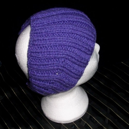 Purple - A knitted headband handmade and sold by Longhaired Jewels