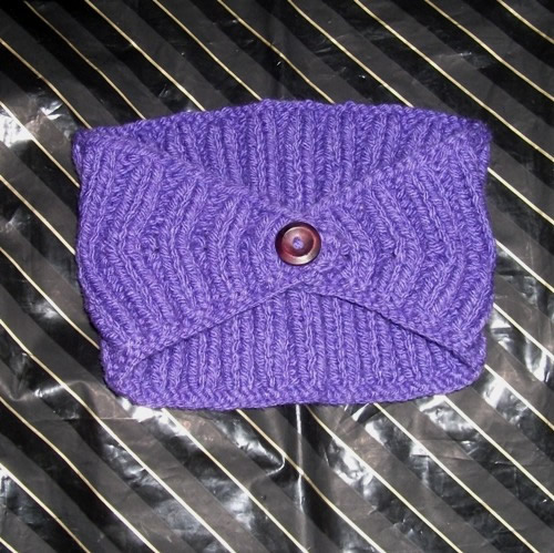 Purple - A knitted headband made and sold by Longhaired Jewels