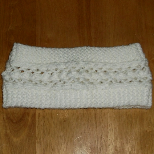 Snow Lace headband handmade and sold by Longhaired Jewels