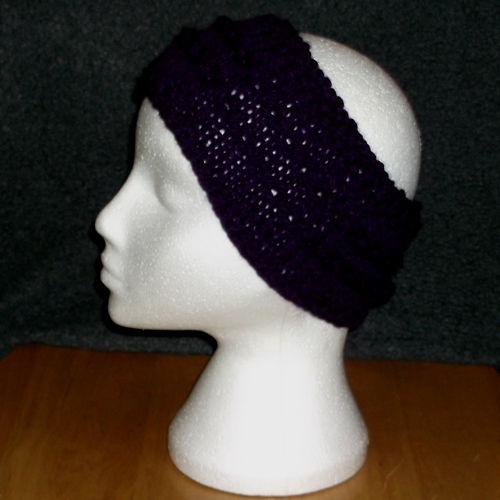 Chain knit headband handmade and sold by Longhaired Jewels
