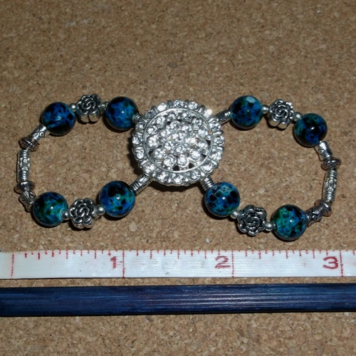 Summer Breeze Infinity Barrette handmade by Longhaired Jewels