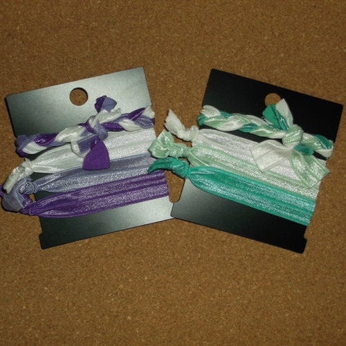 Gentle knotted hair ties supplied by Longhaired Jewels